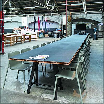 Примеры использования легких плит Finsa GreenPanel без облицовки