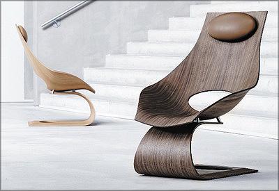 «Стул мечты» Tadao Ando,выклеенный из шпона (Япония)