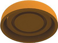 Рис. 3. Внешний вид частейфиксатора, изготовленныхна 3D-принтере: а – верхней; б – нижней