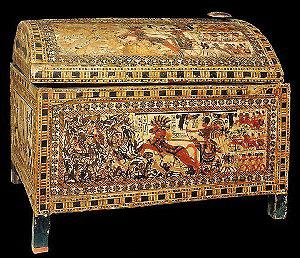 Ларец из гробницы Тутанхамона. Египет, 1332 год до н. э