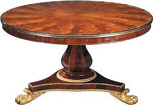 Стол из фанеры, облицованной шпоном махагони. Франция,XIX век