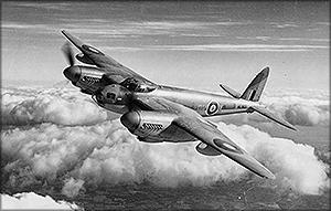 Самолет de Havilland Mosquito (DH-98). Великобритания – самолет в полете
