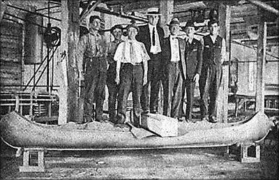 Каноэ, изготовленное из фанеры в компании Haskell Boat Company. США, 1917 год