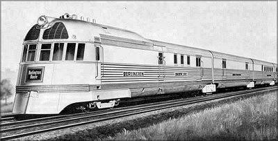 Дизель-электропоезд Zephyr с панелями корпуса из материала Armorply. США, 1935 год