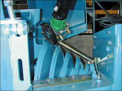 Подготовка ножа рубительной машины к работе