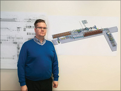 На фото Кари Пуустинен, Jartek. Сортировочный комплекс Keitele Group