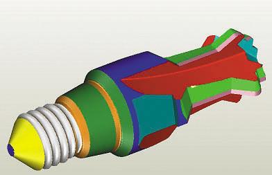 Рис. 4. 3D-чертеж фрезы профильной спиральной