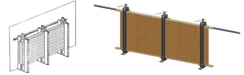 Рис. 5. Винтовой пресс-вайма для склеивания щита