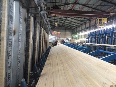 Производство клееной балки из древесины