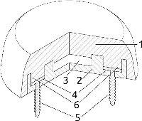 Рис. 1. Фиксатор RFID-метки(аксонометрическая проекцияс частичным вырезом)