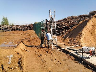 Строительство площадки временного хранения древесных отходов в с. Усть-Кулом