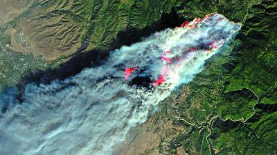 Лесной пожар Camp fire, Калифорния