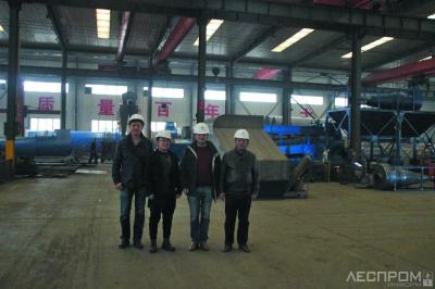 Рис. 3. На китайском заводе – производителе оборудования для торрефикации. Провинция Хэнань 2018 г.