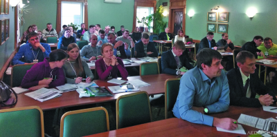 На семинаре в одном из конференц-залов петербургской гостиницы «Адмиралтейская»