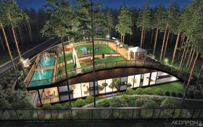 Экспериментальные дома с мини-парком на крыше