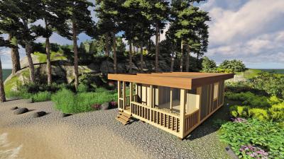 Проект модульного дома, изготовленного по технологии фахверк