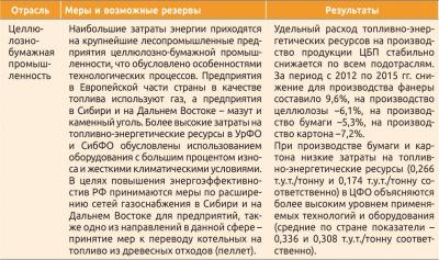 Меры и направления реализации резервов энергоэффективности в разрезе отраслей экономики РФ