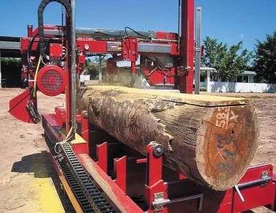 Производство пиломатериала мобильным станком на лесосеке