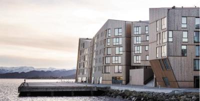 Шестиэтажный жилой комплекс из CLT в Норвегии
