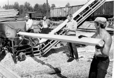 Архивное фото первого станка