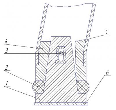 Рис. 2. Защитная конструкция кабины простого типа 1 – дуга, 2 – горизонтальная скоба, 3 – болт