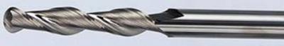 Рис. 1б. Фрезы двухрезцовые спиральные со сферической режущей частью