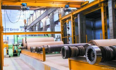 Производство бумаги на  Алексинской бумажно-картонной фабрике