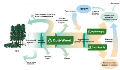 Модель системы комплексного эффективного планирования производства и продаж предприятий лесопромышленного комплекса (из презентации Александра Саливоника)