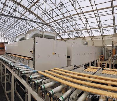 Установка для сушки покрытий ИК-лучами и горячим воздухом на эстонском заводе Lotus Timber