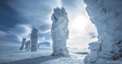 Столбы выветривания на плато Маньпупунёр (фото В. Костылев)
