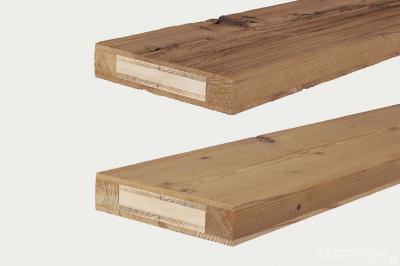 Рис. 7б. Трехслойные щиты с наружной облицовкой из старой древесины