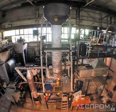 Рис. 1. Установка для торрефикации производительностью 150 кг/ч (ОИВТ РАН)
