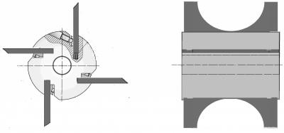 Рис. 1. Ножевая головка с ножами полукруглого профиля