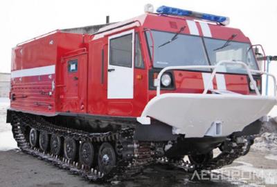 Рис. 7. Пожарная станция на базе гусеничного вездехода ЧЕТРА ТМ-140