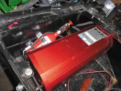 Система пожаротушения на машине John Deere