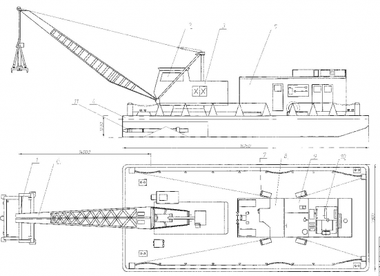 Рис. 1. Схема топлякоподъемного агрегата