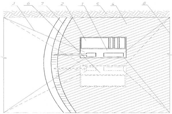 Рис. 2. Технологическая схема выполнения топлякоподъемных работ папильонажным способом