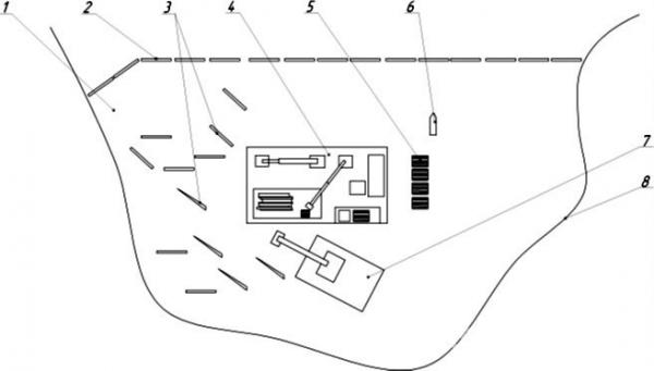 Рис. 7. Технологическая схема освоения плавающей древесины