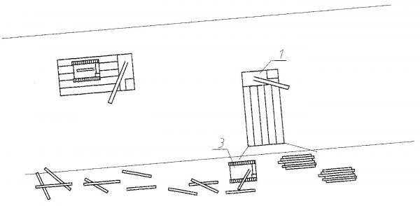 Рис. 11. Технологическая схема использования лесосборщика для транспортировки механизмов в зону освоения разнесенной древесины