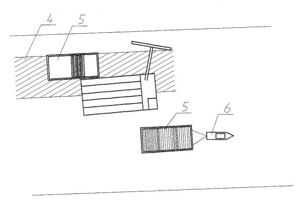 Рис. 12. Технологическая схема подъема топляка топлякосборщиком с погрузкой на плашкоут