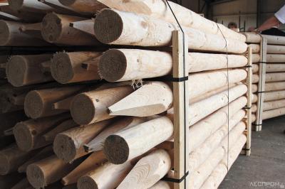 Продукция оцилиндровки из мелкотоварной древесины