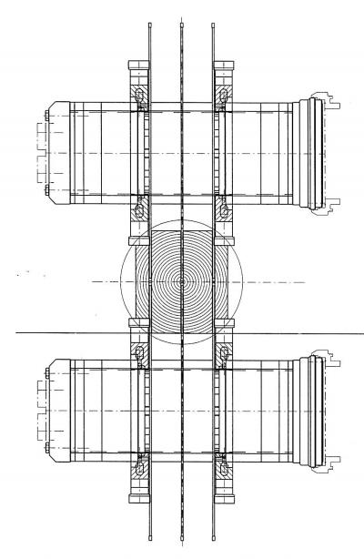 Рис. 1. Принцип работы круглопильного станка с установленными профильными фрезами