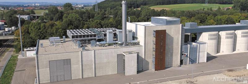 Рис. 1. Газогенераторная ТЭЦ в биоэнергетическом парке г. Зенден.