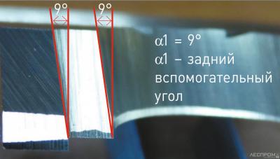 Рис. 8. Шлифованный профильный нож