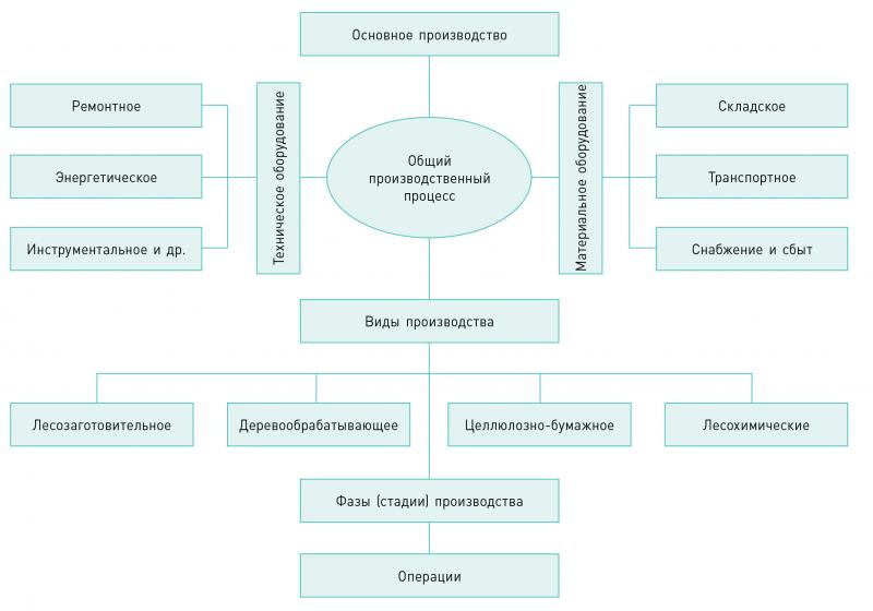 Рис. 1. Структура общего (совокупного) производственного процесса