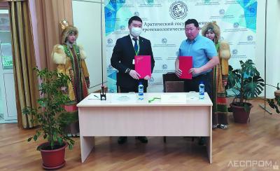 Подписание соглашения АГАТУ и ЛПК «Алмас»