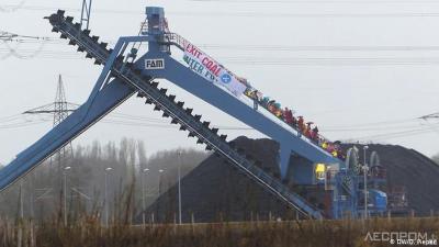 Протест активистов на электростанции Datteln 4