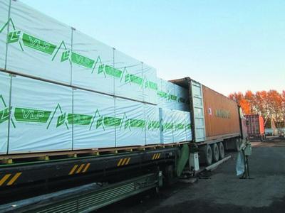 Загрузка пиломатериалов в контейнеры