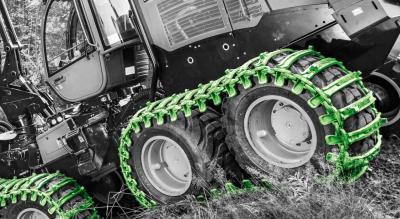 Гусеница противоскольжения Logger для колесной лесозаготовительной техники