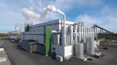 Целлюлозно-бумажный комбинат Metsa Group в г. Каскинен (Финляндия)